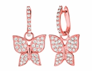 Diamnd butterfly earrings