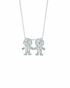 Diamond 2 boys necklace