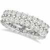 Diamond 2 rows eternity ring