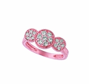 Diamond 3 round ring