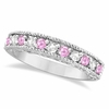 Diamond and Pink Sapphire Band Ring