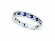 Diamond and Sapphire Ring Band