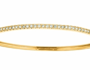 Diamond bangle, 14K yellow gold