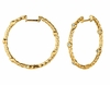 Diamond bezel set hoop earrings