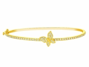 Diamond butterfly bangle