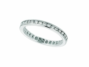 Diamond Channel Set ETERNITY Band, 14K W. Gold