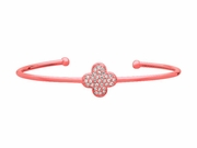 Diamond clover bangle