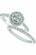 Diamond engagement ring - set