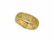 Diamond Eternity Band, 14K Yellow Gold Ring
