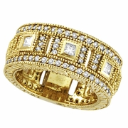 Diamond Eternity Ring Band Yellow Gold