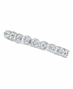 Diamond Eternity Stackable Ring, 14K Guard Ring