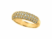 Diamond Fashion Ring, 14K Yellow Gold
