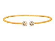 Diamond flowers bangle