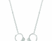 Diamond handcuff necklace