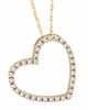 Diamond Heart Pendant Necklace Yellow Gold