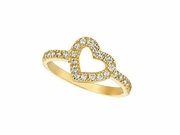 Diamond Heart Ring Yellow Gold
