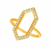 Diamond hexagonal shape ring