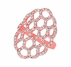 Diamond honeycomb ring