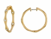 Diamond hoops earrings