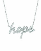 Diamond hope necklace