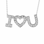 "Diamond  ""I Love You"" Pendant Necklace"