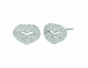 Diamond lips earrings