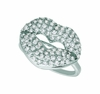 Diamond lips ring