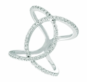 Diamond loop ring