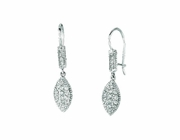 Diamond marquise shape drop earrings