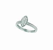 Diamond marquise shape ring