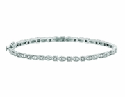 Diamond Marquise & square shape bangle