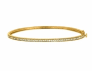 Diamond milgrain bangle