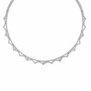 Diamond Necklace, 14K White Gold