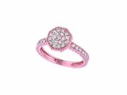 Diamond octagonal shape ring
