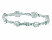 Diamond oval bracelet
