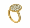 Diamond oval shape ring