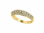 Diamond pave stack ring