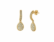Diamond pear shape drop earrings
