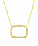 Diamond rectangle necklace