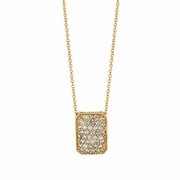 Diamond rectangular shape necklace