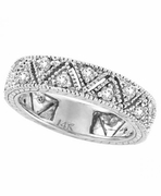 Diamond Ring Band Eternity White Gold