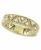 Diamond Ring Band Eternity Yellow Gold