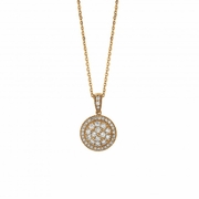 Diamond round necklace