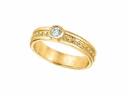 Diamond Solitaire Ring, 14K Yellow Gold