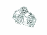 Diamond square & round  ring