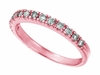 Diamond Stackable Ring, 14K Pink Gold