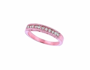 Diamond Stackable Ring, 14K Pink Gold Band