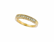 Diamond Stackable Ring, 14K Yellow Gold Band