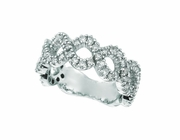 Diamond Swirl Ring, 14K White Gold