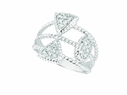 Diamond triangle & round ring